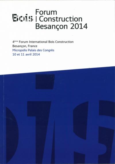 Nicolas Favet Architectes - 11/04/2014 4ème Forum International Bois Construction à Besançon