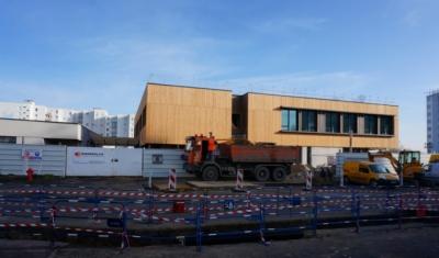 Nicolas Favet Architectes - 05/03/2015 Avancement du chantier du Groupe scolaire Thérèse Cauche à Lens