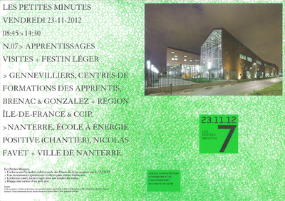 Nicolas Favet Architectes - 23/11/2012 Visite du Groupe scolaire de Nanterre avec le CAUE 92