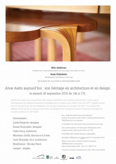 Nicolas Favet Architectes - 28/09/2019 Nicolas Favet anime le séminaire Alvar Aalto aujourd'hui : son héritage en architecture et en design