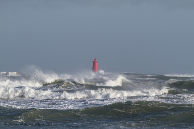stilpix - Poolbeg Lighthouse in Storm