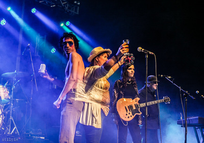 stilpix - The Moonlandingz (incl Johhny Rockets Mum). Body & Soul Festival. 26 Jun 2017.