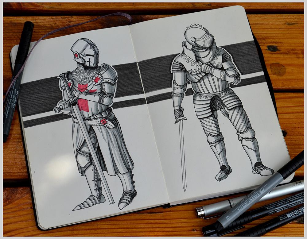 Kateryna Voron - Moleskines sketches