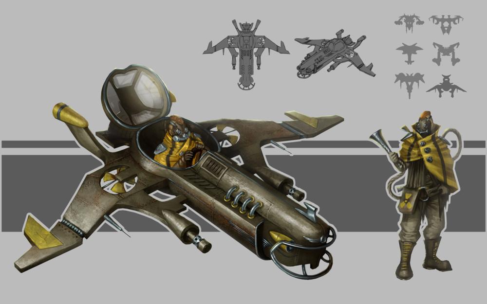 Kateryna Voron - Concept. Dieselpunk spaceship