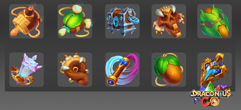 Kateryna Voron - Icons for game. DraconiusGo