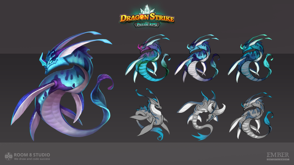 Kateryna Voron - Concept of blue dragon done for Room 8 Studio