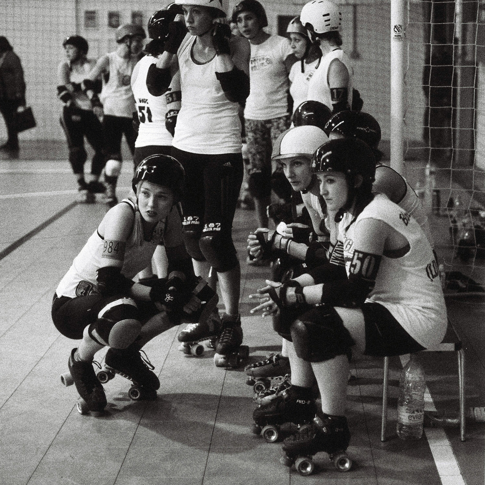 Roller Derby Photography - Team England Roller Derby Tryouts - B&W Film