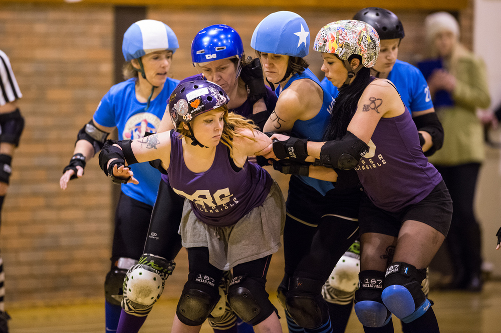 Roller Derby Photography - Devon Clotted Screamers vs Reaper Rollergirls