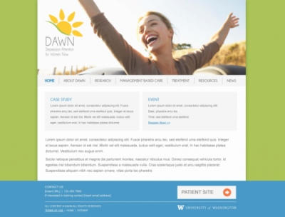 Stacy Reilly Design - DAWN Website