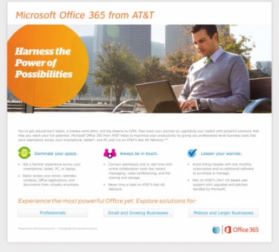 Stacy Reilly Design - AT&T and Office 365 Landing Page