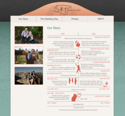 Stacy Reilly Design - Wedding Website