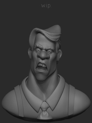 Andreas Art - Al Manheim ZBrush scetch. Work in progress... Based on Budd Schulbergs character Al Manheim featured on his novel What Makes Sammy Run? Responsible for designing & modeling.
