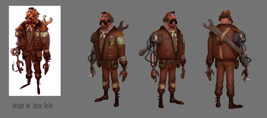 Andreas Art - Aviator. Zbrush 4R6, Maya, 3D Coat Design by Jesse Aclin