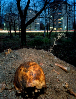 Leif Claesson - Skull on mass grave