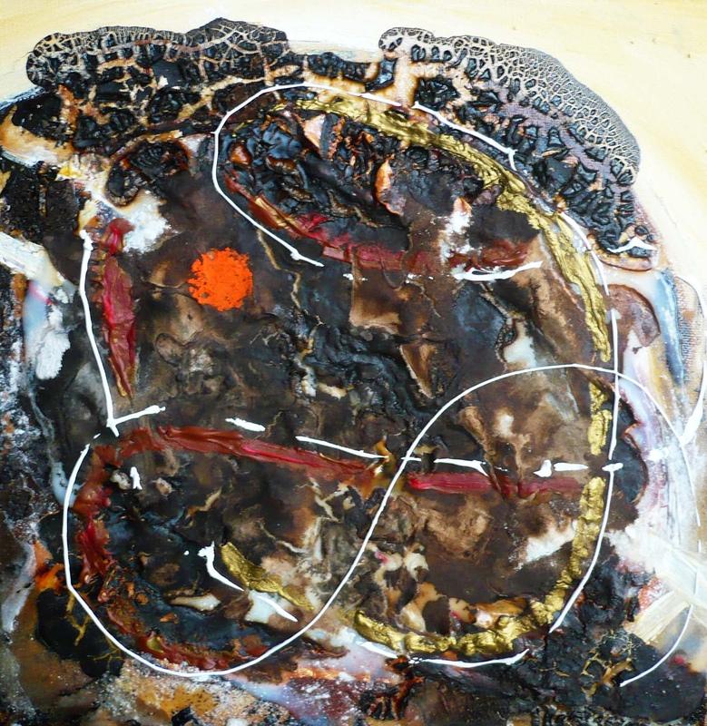 Pinturas, dibujos y grabados - Danza cósmica VI