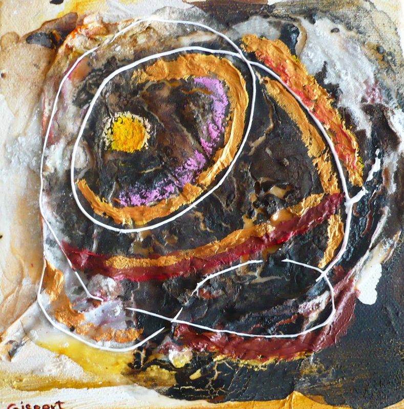 Pinturas, dibujos y grabados - Danza cósmica VII