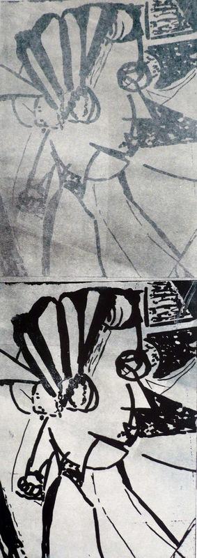 Pinturas, dibujos y grabados - Dos perfiles