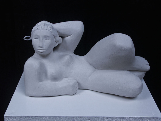 Anna Soremsky - Liegende, - in Privatbesitz