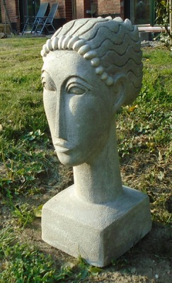 Anna Soremsky - Frauenkopf nach Modigliani