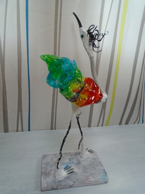 Anna Soremsky - Recycling-Vogel 4 in Privatbesitz