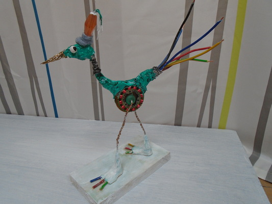 Anna Soremsky - Recycling-Vogel 3 in Privatbesitz