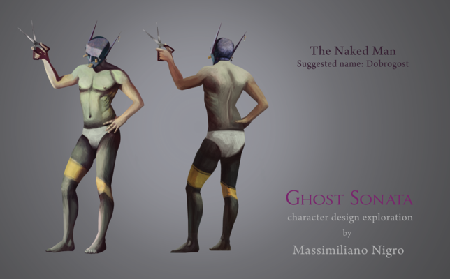 Haematinon - Fine Art, Design and Illustration - Character Design for Ghost Sonata - Feature Film for http://www.se-ma-for.com/