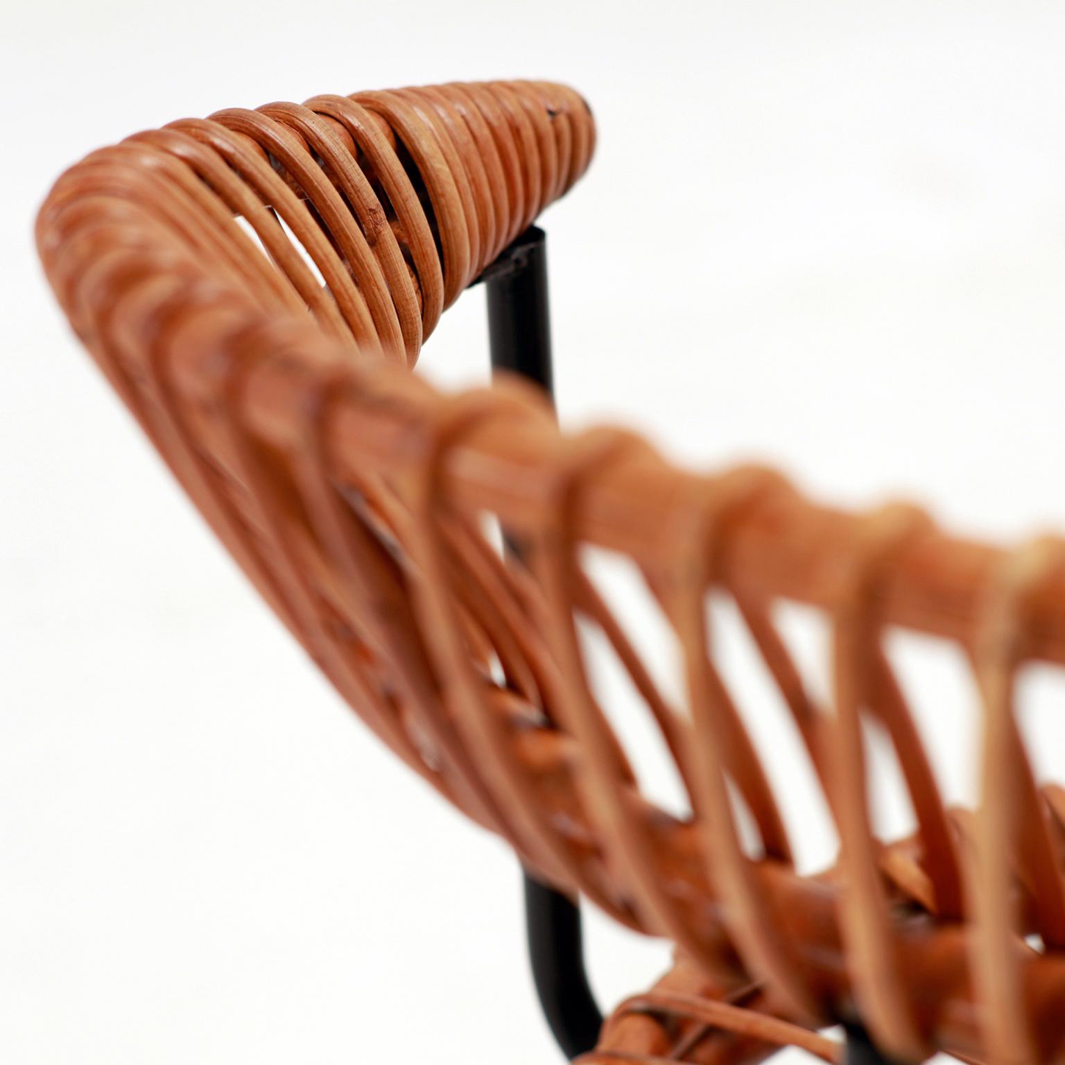 Dirk Van Sliedrecht Rattan Chair Set of Four