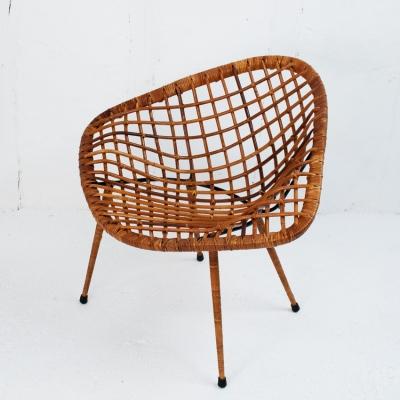 Perlapatrame - meubles - objets - vintage - FAUTEUIL ROTIN 50s