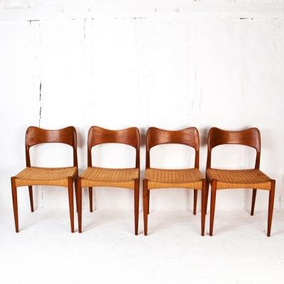 Perlapatrame - meubles - objets - vintage - 4 CHAISES ARNE HOVMAND OLSEN