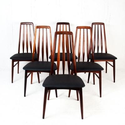 Perlapatrame - meubles - objets - vintage - 6 CHAISES EVA NIELS KOEFOEDS