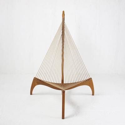 Perlapatrame - meubles - objets - vintage - the harp chair the string chair jorgen hovelskov jorgen christensen danois scandinave