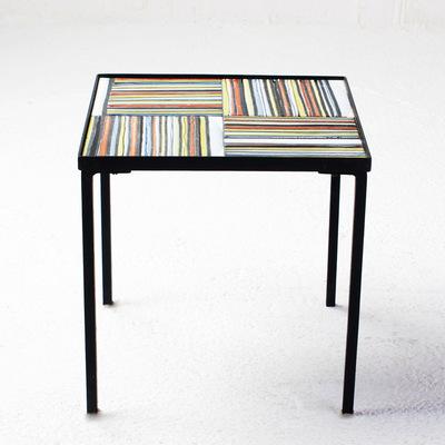 Perlapatrame - meubles - objets - vintage - table basse ceramique roger capron vallauris ceramique 50