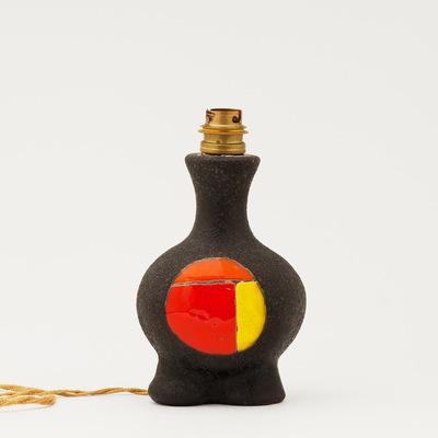 Perlapatrame - meubles - objets - vintage - lampe ceramique gilbert valentin les archanges 1950