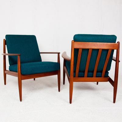 Perlapatrame - meubles - objets - vintage - FAUTEUILS GRETE JALK SCANDINAVE 1950 1960 FRANCE AND SON DANEMARK MADEINDENMARK VINTAGE
