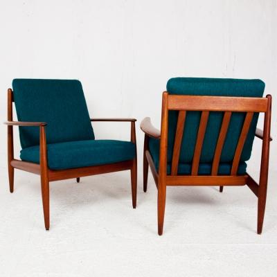 Perlapatrame - meubles - objets - vintage - PAIRE FAUTEUILS GRETE JALK