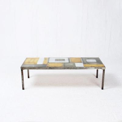 Perlapatrame - meubles - objets - vintage - TABLE BASSE ROGER CAPRON