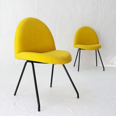 Perlapatrame - meubles - objets - vintage - 2 CHAISES 771 J A MOTTE