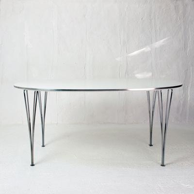 Perlapatrame - meubles - objets - vintage - table super ellispsen bruno mathsson piet hein fritz hansen vintage