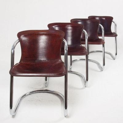 Perlapatrame - meubles - objets - vintage - 4 CHAISES CIDUE 70s
