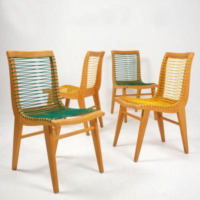Perlapatrame - meubles - objets - vintage - 4 CHAISES LOUIS SOGNOT