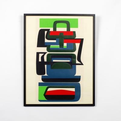 Perlapatrame - meubles - objets - vintage - LITHOGRAPHIE JEAN DEWASNE