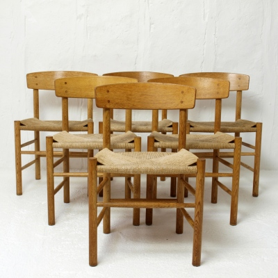 Perlapatrame - meubles - objets - vintage - 6 CHAISES J39 B MOGENSEN