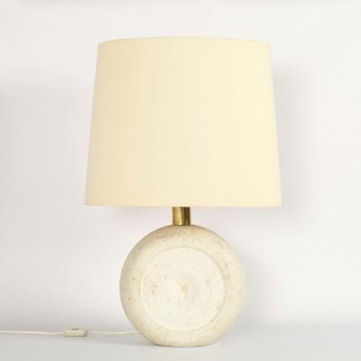 Perlapatrame - meubles - objets - vintage - LAMPE TRAVERTIN 1980s