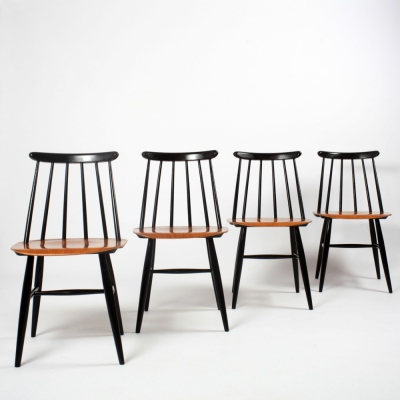 Perlapatrame - meubles - objets - vintage - 4 CHAISES FANETT TAPIOVAARA