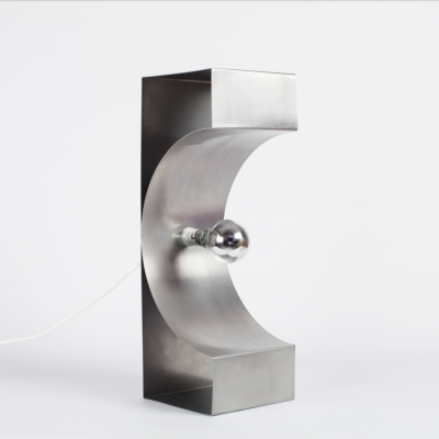 Perlapatrame - meubles - objets - vintage - LAMPE INOX 1970s