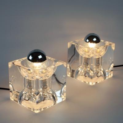 Perlapatrame - meubles - objets - vintage - LAMPES PLEXI 1970s