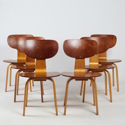 Perlapatrame - meubles - objets - vintage - 6 CHAISES SB02 CEESBRAAKMAN