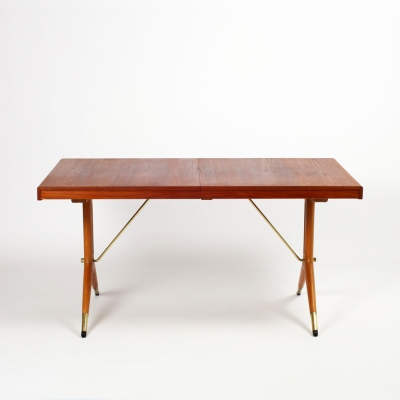 Perlapatrame - meubles - objets - vintage - TABLE NAPOLI SUEDE 1950s