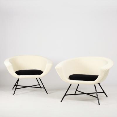 Perlapatrame - meubles - objets - vintage - FAUTEUILS G DANGLES C DEFRANCE