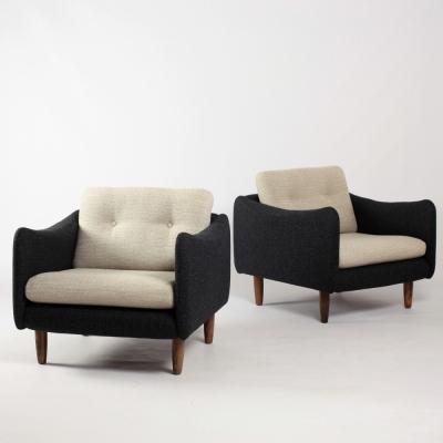 Perlapatrame - meubles - objets - vintage - FAUTEUILS TECKEL M.MORTIER